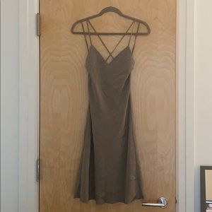 Polo Ralph Lauren silver grey midi slip dress